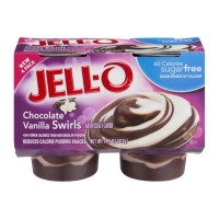 Jell-O Pudding Snacks Chocolate Vanilla Swirls Sugar Free - 4 CT 14.5 OZ