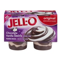 JELL-O Pudding Snacks - Chocolate Vanilla Swirls - Original - 4 CT 15.5 OZ