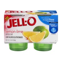 Jell-O Gelatin Snacks Lemon-Lime Sugar Free - 4 CT 12.5 OZ