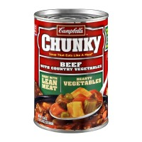 Campbell's Chunky Beef with Country Vegetables Soup 18.8 OZ