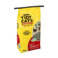 Purina Tidy Cats Litter for Multiple Cats - Non-Clumping - 24/7 Performance (Bag) 10 LB