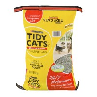 Purina Tidy Cats Litter For Multiple Cats - Non-Clumping - 24/7 Performance (Bag) 20 LB