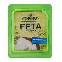 Athenos Feta Cheese Chunk Traditional 8 OZ