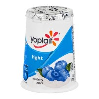 Yoplait Light Fat Free Yogurt Blueberry Patch 6 OZ