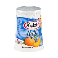 Yoplait Light Harvest Peach Fat Free Yogurt 6 OZ