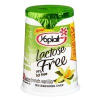 Yoplait Lactose Free Yogurt French Vanilla 6 OZ