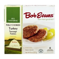 Bob Evans Turkey Sausage Patties - Fully Cooked 8ct / 9.6 OZ