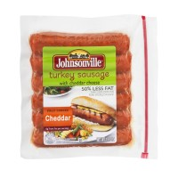Johnsonville Turkey and Cheddar Sausage - 50% Less Fat - 6 CT 13.5 OZ