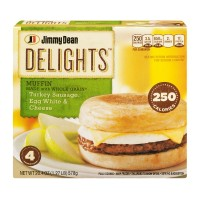 Jimmy Dean Delights Turkey Sausage, Egg White And Cheese Muffin - 4 CT / 20.4 OZ