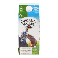 Fresh Milk Organic Valley Fat Free - .5 GL