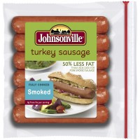 Johnsonville Smoked Turkey Sausage - 50% Less Fat 6 CT 13.5 OZ
