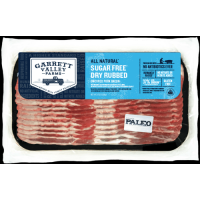 Garrett Valley Farms Sugar Free Dry Rubbed Uncured Pork Bacon 8oz