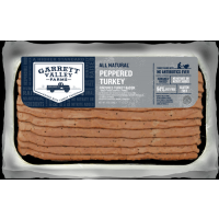 Garrett Valley Farms Peppered Uncured Turkey Bacon 8oz