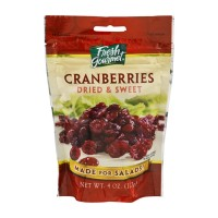 Fresh Gourmet Dried and Sweet Cranberries 4 OZ