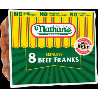 Nathan's Famous Skinless Beef Franks 8pk