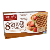 Van's 8 Whole Grains Waffles - Multigrain - 6 Ct
