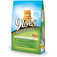 9 Lives Indoor Complete Cat Food Dry 3.15 LB