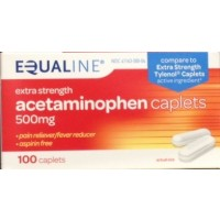 Equaline Acetaminophen Caplets - Extra-Strength - 500mg - 100 CT