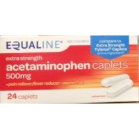 Equaline Acetaminophen Caplets - Extra Strength - 500mg - 24 CT