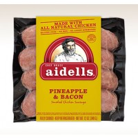 Aidells Pineapple and Bacon Smoked Chicken Sausage 12 OZ