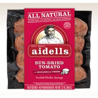 Aidells Smoked Chicken And Sun-Dried Tomato And Mozzarella Cheese Sausage 12 OZ