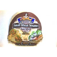 Aladdins Pita Wheat Sesame Small 8.3 OZ