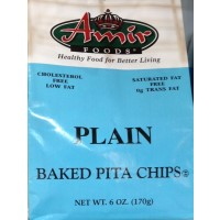 Amir Baked Pita Chips - Plain 6 OZ
