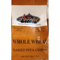Amir Baked Pita Chips - Whole Wheat 6 OZ