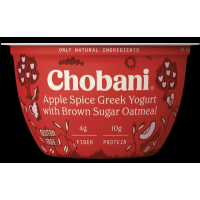 Chobani Apple Spice Greek Yogurt with Brown Sugar Oatmeal 5.3oz