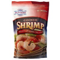 Arctic Shores Cooked Shrimp - Peeled & Deveined, Tail On - 26-30 CT / 16 OZ