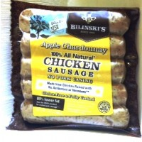 Bilinski's Apple Chardonnay 100% All Natural Chicken Sausage 12 OZ
