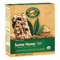 Nature's Path Organic Sunny Hemp Trail Mix Granola Bars 6 CT 7.4 OZ