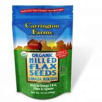 Carrington Farms Organic Milled Flax Seeds 14 OZ
