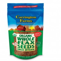 Carrington Farms Organic Whole Flax Seeds 15 OZ