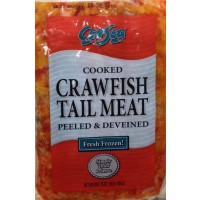 Frozen Cooked Crawfish Tail Meat (brand may vary) - 1 LB