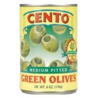 Cento Pitted Green Olives 6 OZ