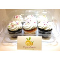 Zagara's Own Bakery Chocolate & Vanilla Cupcakes - 6ct