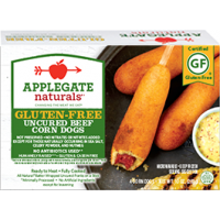 Applegate Naturals Gluten Free Uncured Beef Corn Dogs - 4 CT / 10.0 OZ
