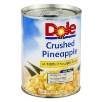 Dole Crushed Pineapple in 100% Pineapple Juice - 20.0 OZ