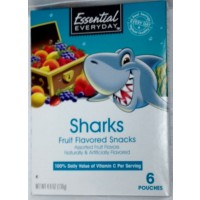 Essential Everyday Fruit Flavored Snacks - Sharks - 6 CT