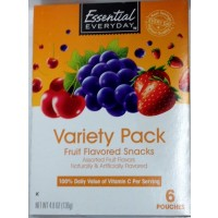 Essential Everyday Fruit Flavored Snacks - Variety Pack -10 CT