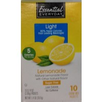 Essential Everyday Sugar Free Lemonade Coolers Drink Mix Packets to Go 10 Ct