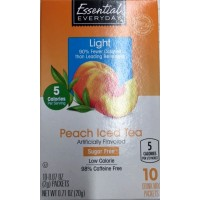 Essential Everyday Peach Iced Tea Mix Packets - Sugar Free - 10 Ct