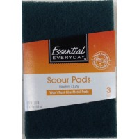 Essential Everyday Heavy Duty Scour Pads - 3 CT