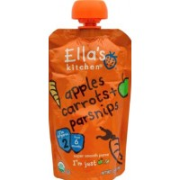 Ella's Kitchen Organic Baby Food - Stage 2 - Carrots Apples + Parsnips 3.5 OZ