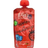 Ella's Kitchen Organic Baby Food - Stage 2 - Strawberries + Apples 3.5 OZ