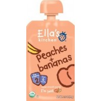 Ella's Kitchen Organic Baby Food - Stage 2 - Peaches + Bananas 3.5 OZ