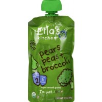 Ella's Kitchen Organic Baby Food - Stage 2 - Broccoli Pears + Peas 3.5 OZ