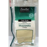 Essential Everyday Deli Style Sliced Mozzarella Cheese - 8 OZ