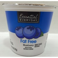 Essential Everyday Fat Free Blueberry Yogurt 6 OZ
